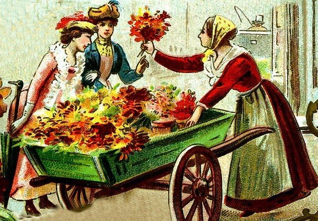 old fashioned florist and how the floral delivery industry used to be