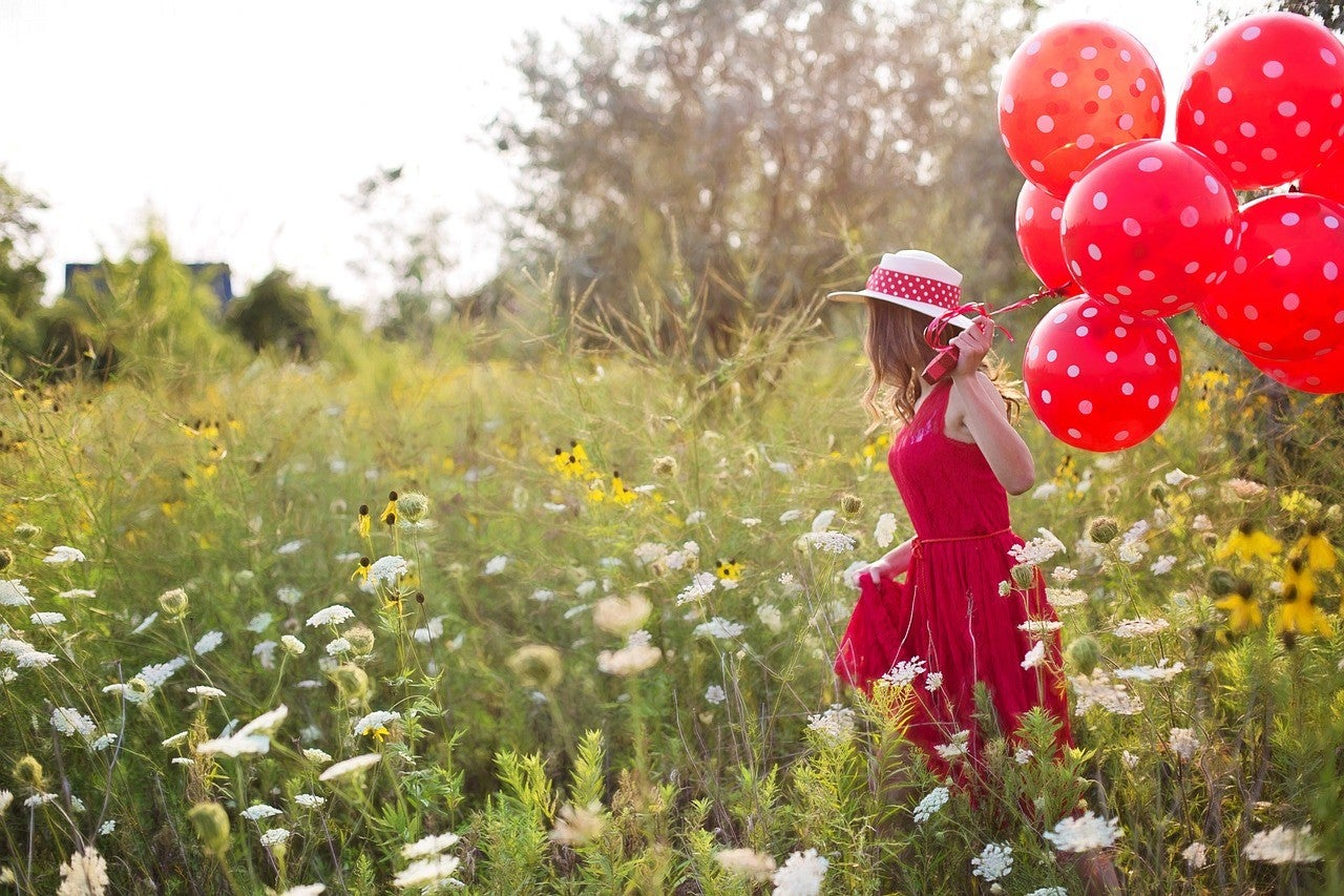 most popular valentines day flowers red and white flowers and balloons