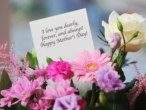 best flowers for mom on mothers day gift card message and flowers