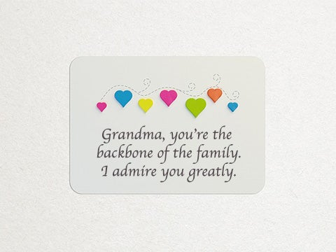 Best flowers for grandma and grandmother mothers day card idea