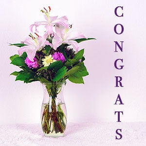 Flowers for all occasions congratulations flowers and congrats flowers