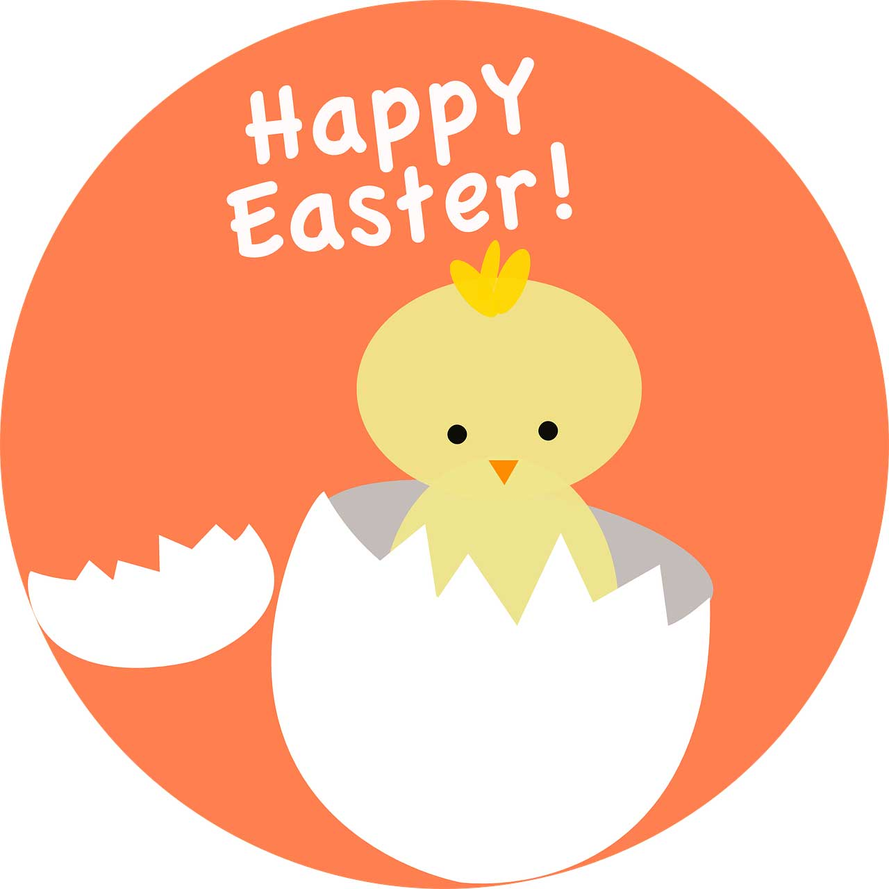 Happy Easter chick image at Send Flowers
