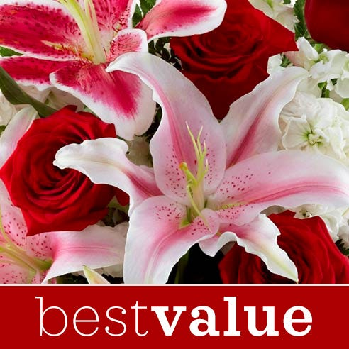 Cheap valentines day flower bouquet delivery, cheapest valentine's day bouquet