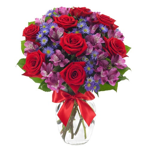 Color block flower bouquet for same day flowers delivery from send flowers usa
