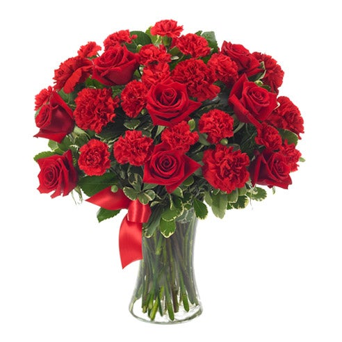Cheap flowers free delivery on this red roses bouquet online