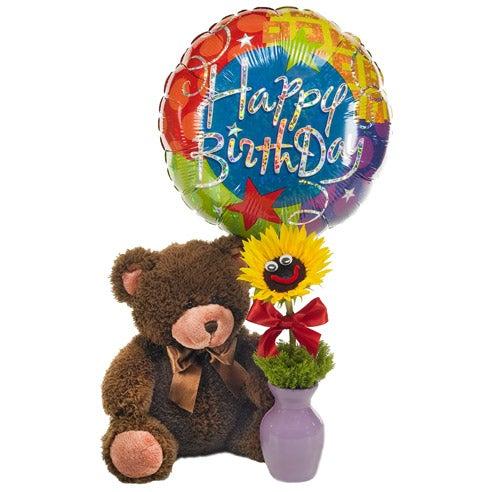 Happy Birthday Flower Amp Balloon Bundle At Send Flowers