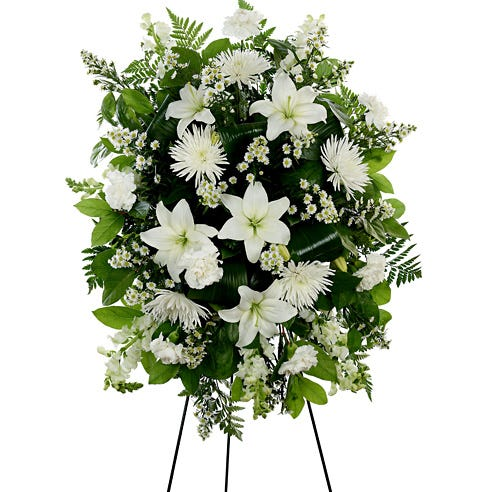 White Standing Spray At Send Flowers
