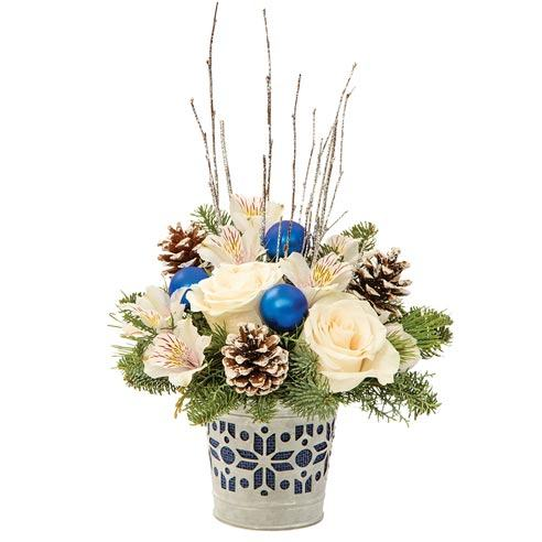 White Rose Winter Bliss Bouquet