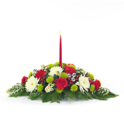 Traditional Christmas Centerpiece At Send Flowers