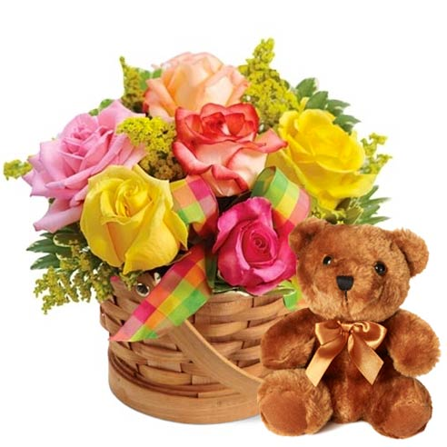 get well flowers and bear delivery and send gift to hospital patient