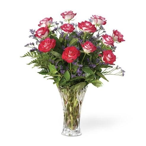 Beautiful Bicolor Dozen Roses At Send Flowers