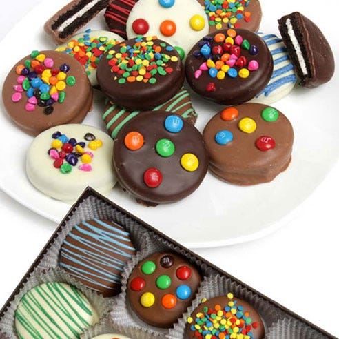 Celebratory Chocolate Covered Birthday Oreos