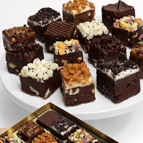 Same day chocolate brownies online for valentine day special offer at sendflowers