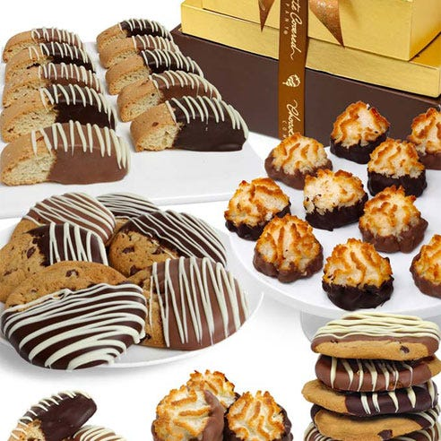 Chocolate covered gift baskets send cookies same day delivery at send flowers