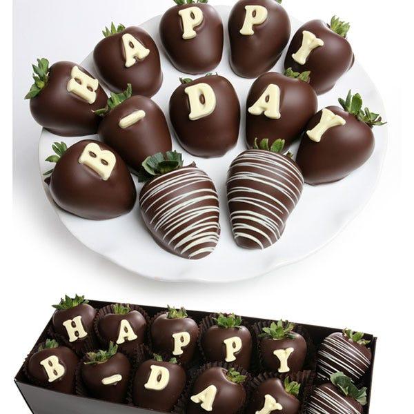 Happy Birthday Chocolate Covered Strawberry BerryGram