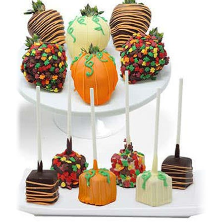 Fall Chocolate Covered Strawberries and Cheesecake Pops - 12 Pieces