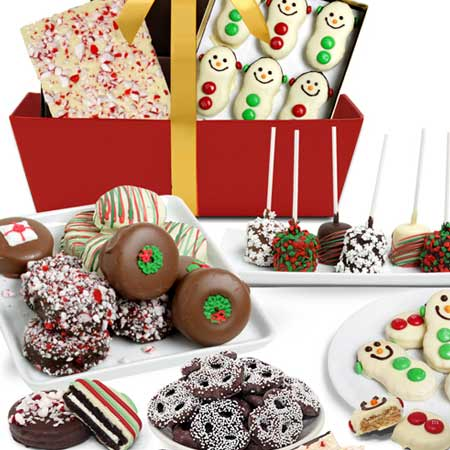 Christmas cookie gift basket delivery by Send Flowers USA