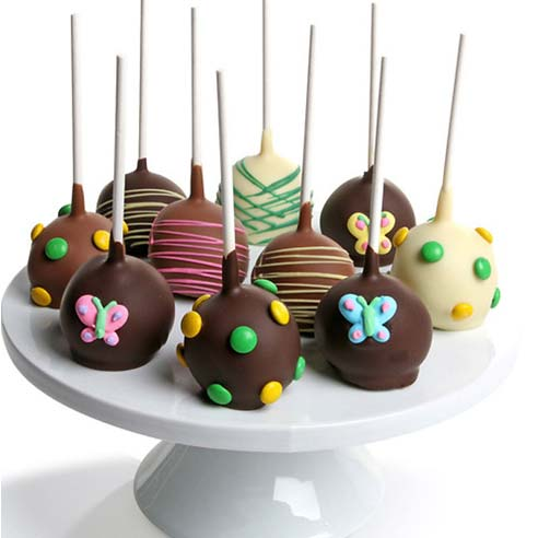 Spring Chocolate Covered Cake Pops - 10 Pieces