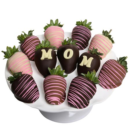 Mothers day flowers and chocolate covered strawberries