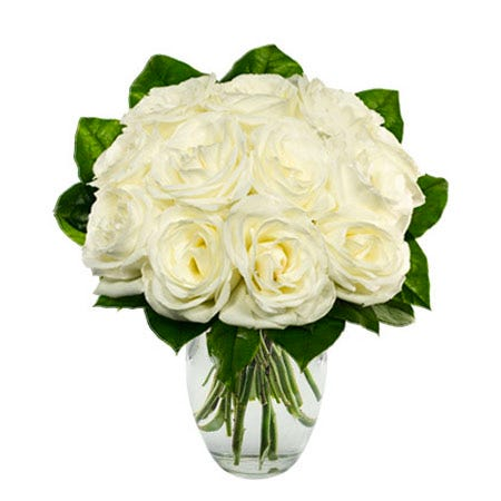 Best roses for Valentines Day white boxed roses delivery