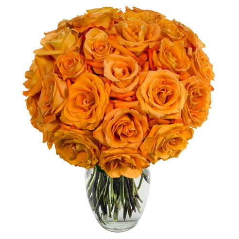 Unique Valentine flower arrangements orange roses for valentines day