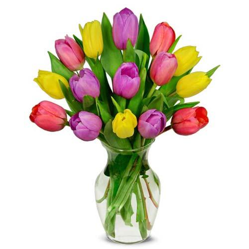 Sweet Spring Tulip Bouquet - 15 Stems