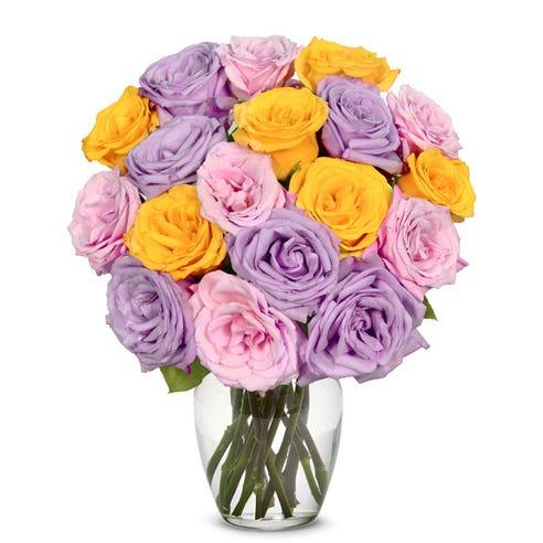 18 Pastel Rose Bouquet
