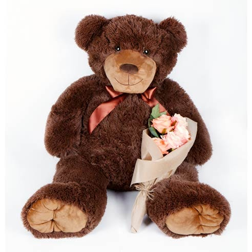 Cute Valentines gift delivery and giant teddy bear for Valentines day