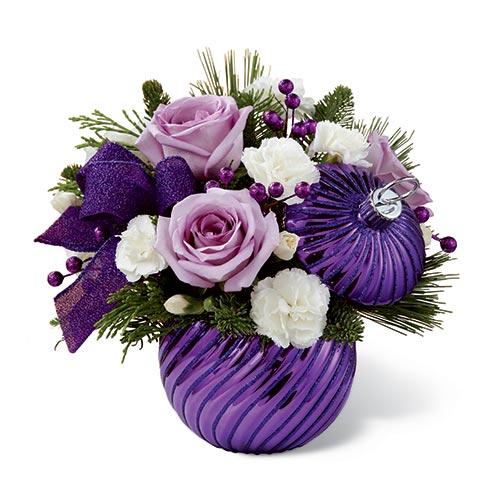 Purple Delight Christmas Bouquet At Send Flowers