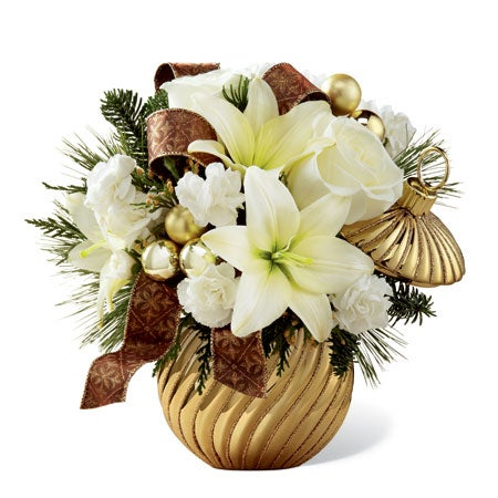 Golden Christmas Ornament Bouquet