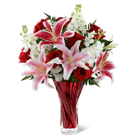 Valentine's Day bouquet delivery stargazer lily bouquet