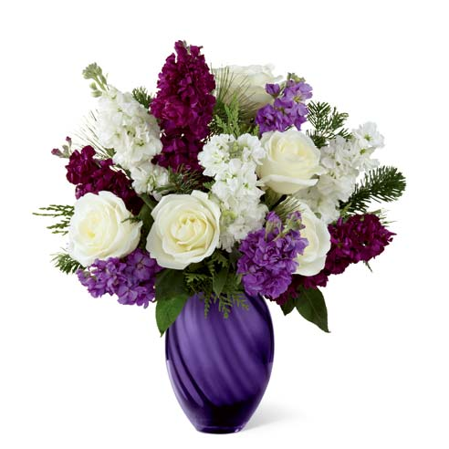Purple flowers for same day flower delivery online at send flowers