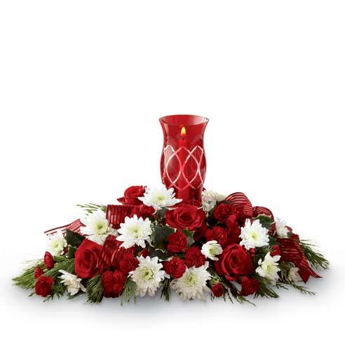 red lantern flower centerpiece for same day flower centerpiece delivery