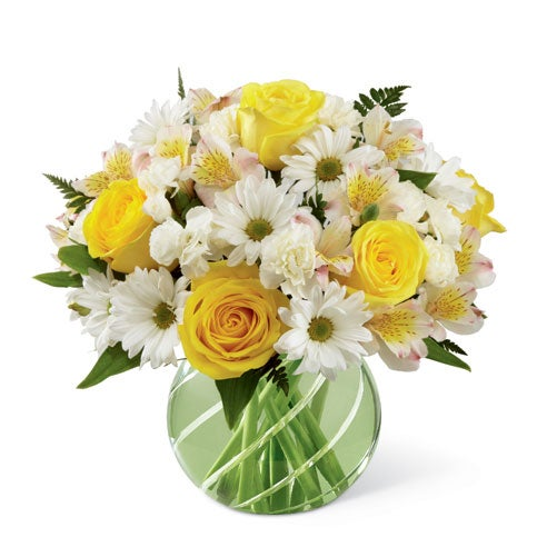 Best st patricks day gifts green flower bouquet with yellow roses