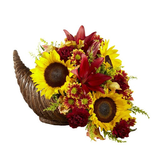 thanksgiving cornucopia bouquet delivery thanksgiving hostess gifts