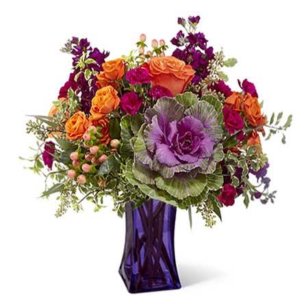 Eucalyptus And Kale flower bouquet