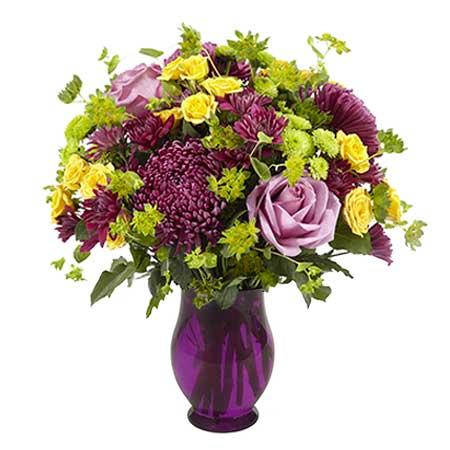 Purple Plums and Sunshine Bouquet