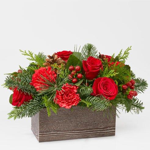 Holly Jolly Rose Basket