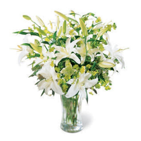White lily bouquet at send flowers today with free flowers delivery