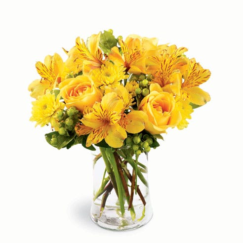 Yellow rose bouquet from sendflowers offering cheap flower delivery for you