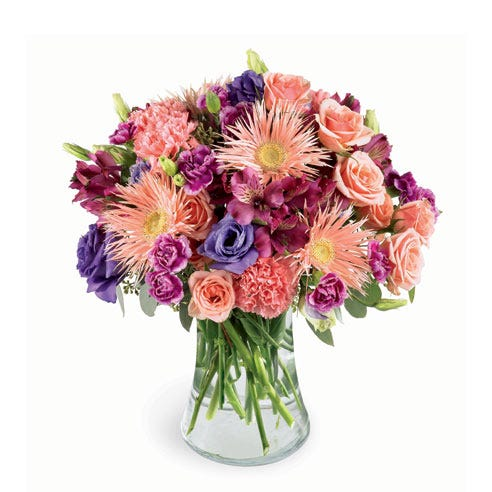 cheap flower bouquet and luxury spider gerbera daisies arrangement online