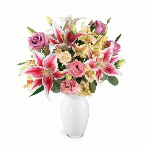 Mixed bouquet with free flowers delivery at flowers online now