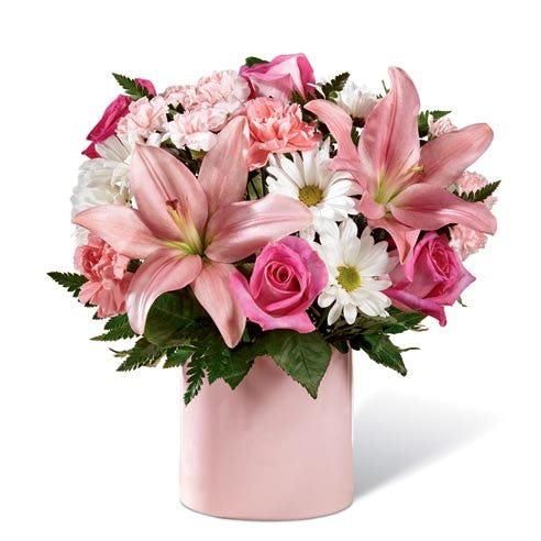 new baby girl flowers delivery and new baby flower delivery at send flowers