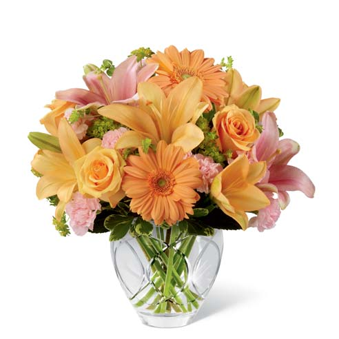 Peach Gerbera Daisy Bouquet