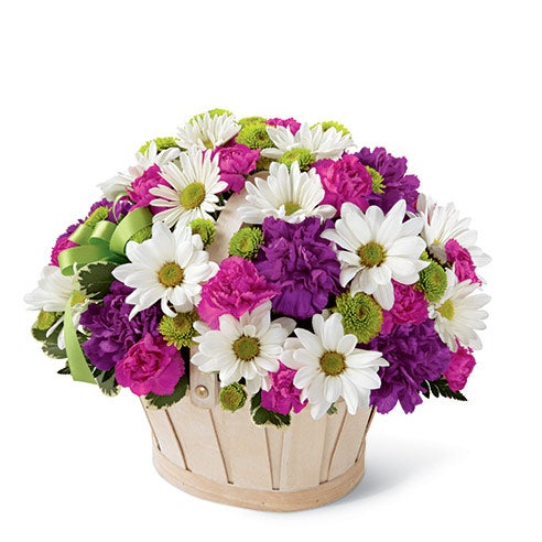 painted daisy bouquet with mixed flowers for same day flower delivery