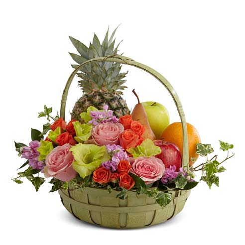 Flowers & Fruit Sympathy Basket