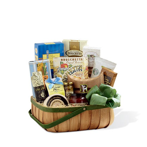 Cheap gift basket delivery with cheese and sausage gift basket