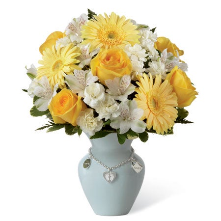 Bright yellow roses, Peruvian Lilies, gerbera daisies for delivery