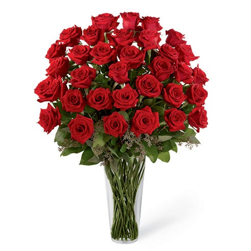 36 long stem roses delivery of cheap red roses from send flowers