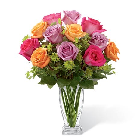 Mixed rose bouquet for same day roses and gifts delivery